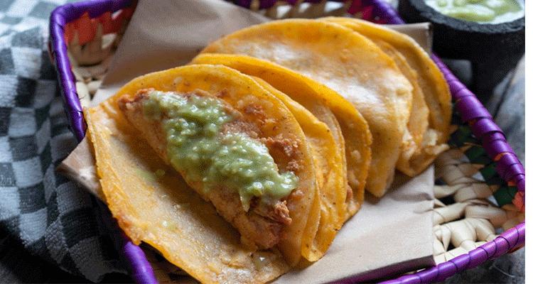 preparar tacos a la canasta