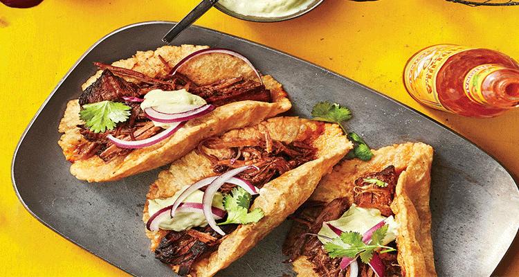 preparar tacos de barbacoa