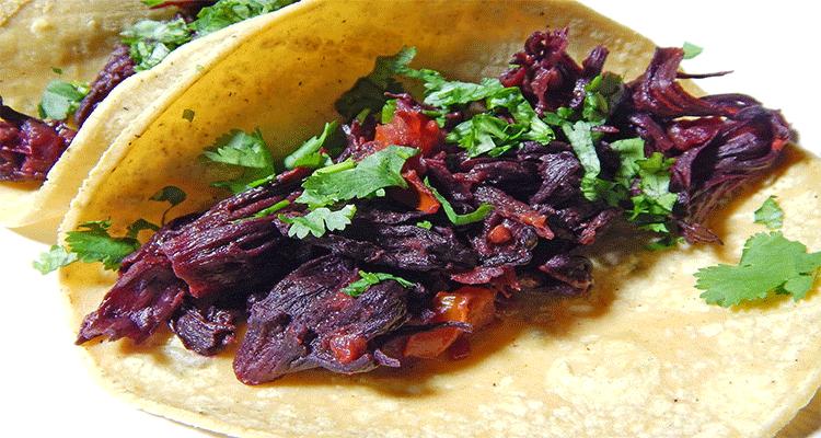 preparar tacos de jamaica